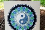 Ying yang - Mandala su tela