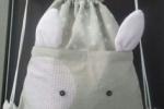 Zainetto per necessaire asilo nido, realizzato in cotone