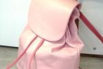 Zainetto rosa in vera pelle
