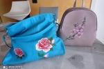 Zaini e borse dipinte a mano con fiori