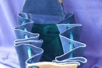Sacca in scamosciato di vitello colore viola